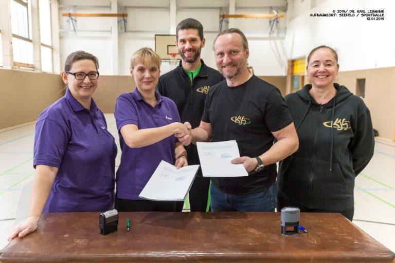 Unterzeichnung Kooperationsvertrag KJS Barnim und VSG Seefeld